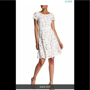 Nue By Shani Laser-Cut Fit & Flare Dress